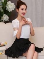 เสื้อชีฟอง สีขาว แฟชั่นเกาหลีใส่สบายตัวมากๆ