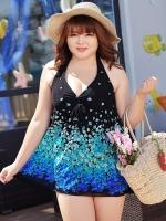 SW049 (จีน) ชุดว่ายน้ำคนท้อง/คนอ้วน