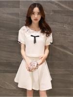 แฟชั่นเกาหลี set เสื้อและกระโปรงน่ารักมากๆ ครับ