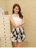 เสื้อผ้าแฟชั่นเกาหลี Set 2 ชิ้น เสื้อ+กระโปรง เสื้อผ้าซีฟองเนื้อดี กระโปรงผ้าไหมแก้ว สวยมากๆ