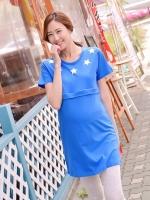 LKNS013 (เกาหลี)เสื้อคลุมท้องให้นม มี 4 สี