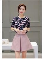 แฟชั่นเกาหลี set เสื้อ และกางเกงสวยน่ารักสุดๆ