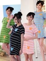 CN114(จีน)ชุดคลุมท้องให้นม ผ้ายืด นิ่ม หนา เนื้อละเอียด ลายขวางสกรีนมิกกี้เมาส์ แต่งกระเป๋าสองข้าง ใส่ดีมากๆรับประกัน มี 4 สีน้ำเงิน,เขียว,ชมพู,ฟ้าอ่อน