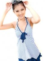 SW008 (จีน) ชุดว่ายน้ำคนท้อง สีฟ้า L