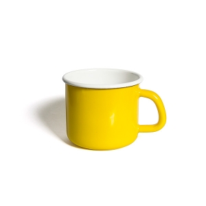 'HoneyWare' Enamel Mug 10cm. (Yellow)