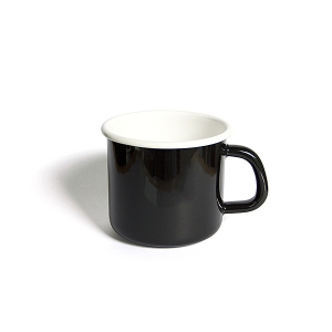 'HoneyWare' Enamel Mug 10cm. (Black)