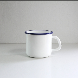 'HoneyWare' Enamel Mug 10cm. (White)