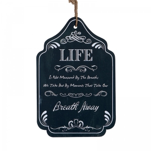 Wood Wall Plaque w/ Saying