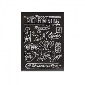 Tin Recipes For Love & Happiness Wall Décor, 4 Styles 'GOOD PARENTING'