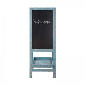 Aqua Wood 2-Side Sandwich Chalkboard