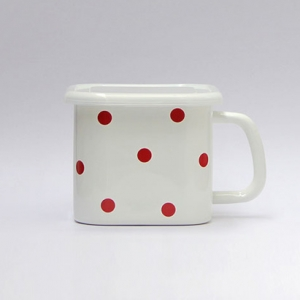 Polka dots Enamel square box