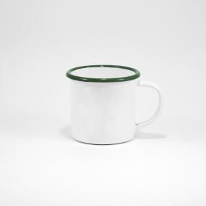 Enamel Mug 9cm (Green rim)