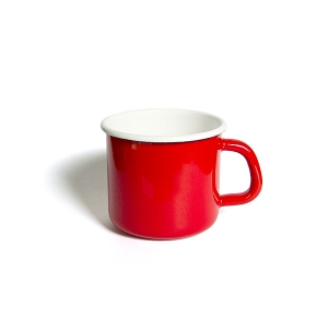 'HoneyWare' Enamel Mug 10cm. (Red)