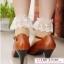ถุงเท้าลูกไม้วินเทจสีเนื้อ thumbnail 4