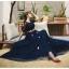 ชุดราตรียาว ออกงาน ตัวเสื้อผ้าลูกไม้สีน้ำเงิน แขนยาวสามส่วน ด้านนอกของเสื้อผ้าลูกไม้ thumbnail 10