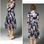 ชุดเดรสสวยๆ ผ้าปักริบบิ้นเป็นรูปดอกไม้ โทนสีน้ำเงิน และสีชมพูกะปิ thumbnail 6