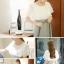 ชุดเดรสน่ารัก ตัวเสื้อผ้าชีฟอง สีขาว แขนเสื้อระบายทรงปีกค้างคาว กระโปรงผ้าคอตตอนผสม thumbnail 4