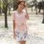 เสื้อผ้าแฟชั่นเกาหลี Set 2 ชิ้น เสื้อผ้าชีฟองสีชมพู แขนระบายปักมุก พร้อมเข็มขัด สวยมากๆ thumbnail 2