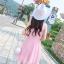 ชุดเดรสผ้าชีฟอง สีชมพูโอรส แขนกุด คอวี thumbnail 15