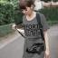 เสื้อยืดเกาหลี ตัวยาว Size M ลาย รถเต่า สีเทา thumbnail 1