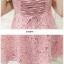 ชุดเดรสสายเดี่ยว พร้อมเสื้อคลุมผ้าลูกไม้สีชมพูสวยมากๆ ครับ thumbnail 10