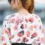 เสื้อผ้าแฟชั่น สุด Chic เสื้อแฟชั่นแขนยาว ผ้าเกาหลี ลายดอกกุหลาบ รหัส 9008_1 thumbnail 3