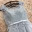 ชุดราตรียาว ออกงานสุดหรูสวยสุดๆ ตัวเสื้อเป็นผ้ามุ้งปักลายดอกไม้สีเทา thumbnail 10