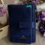 พร้อมส่ง CR-3002 สีน้ำเงิน กระเป๋าสตางค์สั้น CHERISH-หนัง PU นุ่มแต่งอะไหล่และซิปรมดำอย่างดี thumbnail 1