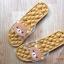 K020-ฺฺBR2**พร้อมส่ง** (ปลีก+ส่ง) รองเท้านวดสปา เพื่อสุขภาพ ปุ่มใหญ่สลับเล็ก (การ์ตูน) สีน้ำตาล ลายหมีคุมะ thumbnail 1