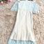 ชุดเดรสยาวสวยหรู ผ้าลูกไม้สีฟ้า เปิดไหล่ มีผ้าระบายปิดต้นแขนและหน้าอก thumbnail 8