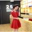 ชุดเดรสสั้น ผ้าชีฟอง ชนิดเนื้อทราย สีแดง thumbnail 2