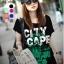 เสื้อยืดแฟชั่น ผ้าเนื้อนุ่ม ลาย City Scape สีดำ thumbnail 1