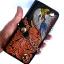 กระเป๋าสตางค์ยาว สีดำ รูป อินทรีย์คาบขนนก และลวดลายช่อไม้ แบบ2พับ พร้อมโซ่ thumbnail 1