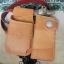 ซองหนังใส่กระเป๋าหนังแท้ + กระเป๋า หนังแท้ สีน้ำตาล thumbnail 2