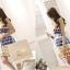 เสื้อผ้าแฟชั่นเกาหลี set 2 ชิ้น เสื้อและกระโปรง ผ้าคอตตอนผสมสีสันสดใส สวยสดใสครับ thumbnail 7