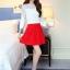แฟชั่นเกาหลี set เสื้อ และกระโปรง สวยมากครับ thumbnail 7