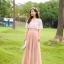 แมกซี่เดรสยาว ผ้าชีฟองเนื้อดี สีชมพูโอรส thumbnail 1
