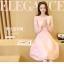 ชุดเดรสสวยๆ สีชมพู เดรสผ้าลูกไม้สีชมพู แขนยาว เนื้อดีมากๆ thumbnail 2