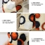 ชุดเดรสแฟชั่น ผ้าซาตินเนื้อเงา พื้นสีครีม ลายกราฟฟิกทรงกลมโทนสีส้มและน้ำเงิน thumbnail 5