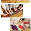 S008 **พร้อมส่ง** (ปลีก+ส่ง) ถุงเท้าคัทชู สีล้วน ไม่มีลาย เนื้อค๊อตต้อน มี 10 คู่ต่อแพ็ค เนื้อดี งานนำเข้า(Made in China) thumbnail 3