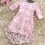 ชุดเดรสสวยๆ ตัวชุดผ้าโปร่งเนื้อละเอียด ตัวผ้าเดินเส้นผ้าริบบิ้นสีชมพูโค้งหยักตามแบบ thumbnail 4