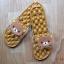 K020-ฺฺBR2**พร้อมส่ง** (ปลีก+ส่ง) รองเท้านวดสปา เพื่อสุขภาพ ปุ่มใหญ่สลับเล็ก (การ์ตูน) สีน้ำตาล ลายหมีคุมะ thumbnail 5