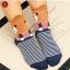 S027**พร้อมส่ง** (ปลีก+ส่ง)ถุงเท้าแฟชั่นเกาหลี ลายหมี ข้อสูง มีหู มี 5 สี (ดำ น้ำเงิน แดง เหลือง ม่วง)เนื้อดี งานนำเข้า ( Made in China) thumbnail 5