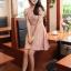 ชุดเดรสสั้น แฟชั่นเกาหลี ใส่ออกงานได้ สีชมพู ผ้าชีฟอง แขนตุ๊กตา โชว์หลัง กระโปรงบาน เป็นชุดเดรสแบบปล่อย สวยน่ารัก ๆ (พร้อมส่ง) thumbnail 1