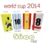แบตสำรอง Power bank ebai มีจอ LCD EVA-5600 mAh World Cup Series thumbnail 1