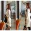 เสื้อลูกไม้ แฟชั่นเกาหลี ชนิดเนื้อนิ่ม สีขาว แขนยาว คอเต่า แต่งคอเสื้อด้วยคริสตรัลใส thumbnail 4