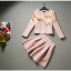 แฟชั่น Set 2 ชิ้น (เสื้อ + กระโปรง) ผ้าคอตตอนผสม เนื้อนุ่ม สีชมพูโอรส thumbnail 4
