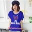 เสื้อยืดแฟชั่น ผ้านุ่ม ลาย Doc Dog (Size M:36 นิ้ว) สีน้ำเงิน thumbnail 1