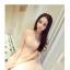 ชุดเดรสสวยๆ ตัวชุดเป็นผ้ามุ้ง สีชมพู เย็บซ้อนด้วยผ้าปักลายใบไม้ เข้ารูปช่วงเอว thumbnail 10