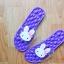K020-PU **พร้อมส่ง** (ปลีก+ส่ง) รองเท้านวดสปา เพื่อสุขภาพ ปุ่มใหญ่สลับเล็ก (การ์ตูน) สีม่วง ส่งคู่ละ 150 บ. thumbnail 6